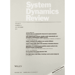 System Dynamics Review - Print Version. Scientific Journal about simulation, modeling, and system dynamics