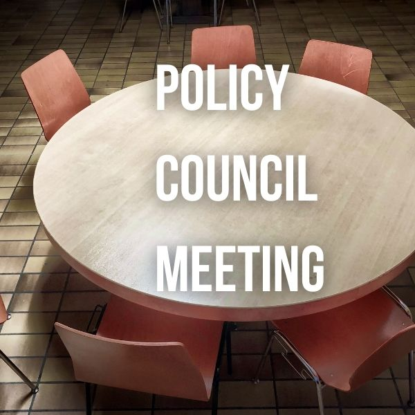 March 2021 Policy Council Meeting