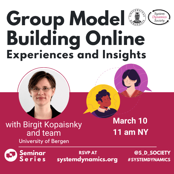 Group Model Building Online: Experiences and Insights Seminar