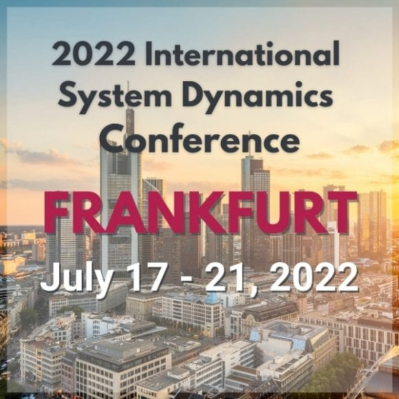 2022 International System Dynamics Society Conference in Frankfurt, Germany