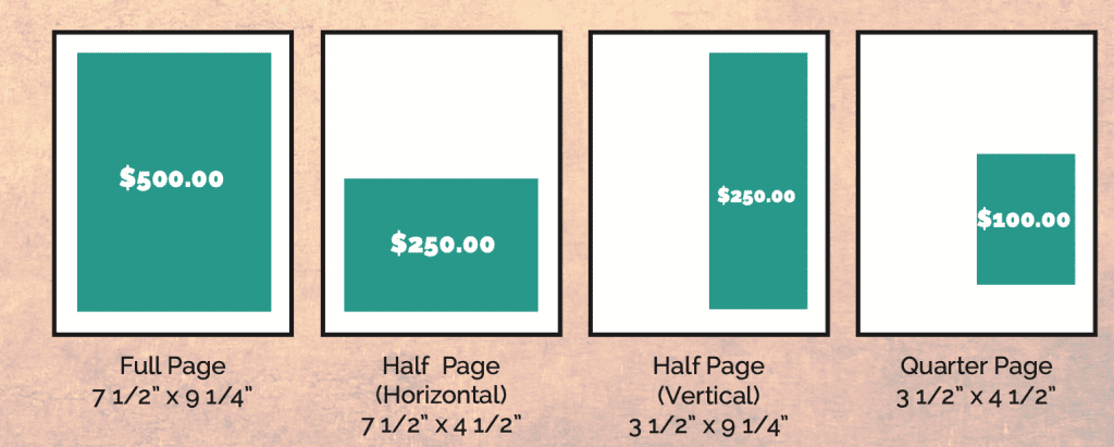Conference Program Ad Options