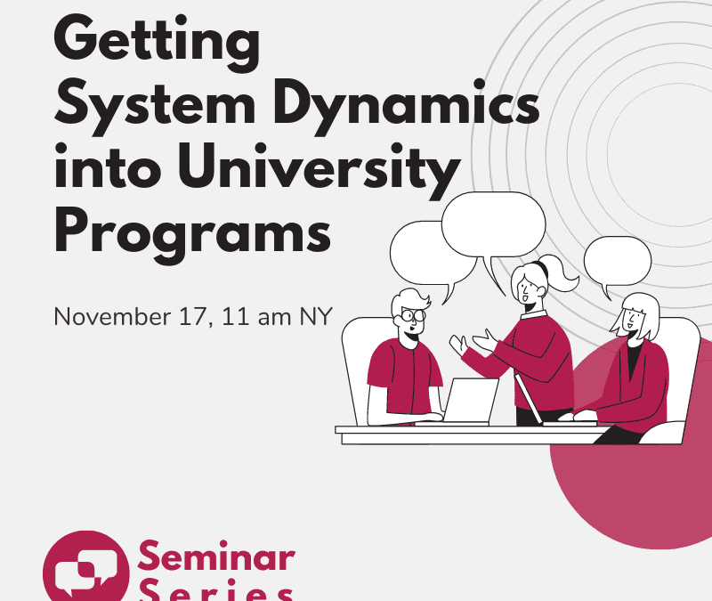 Roundtable: Getting System Dynamics into University Programs
